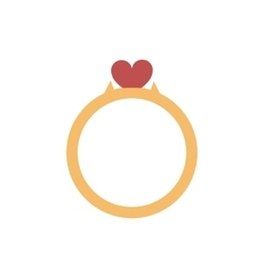 Flat icon on white background wedding ring vector