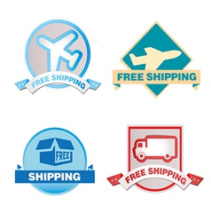 Free Shipping labels vector image