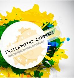 futuristic design vector image