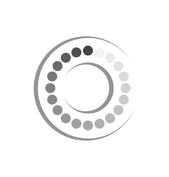 Geometric shape of circles and ring icon vector