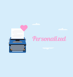 Get personalized love letter with vector