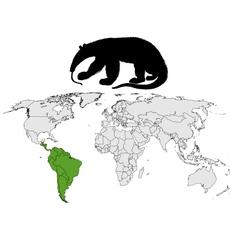 Giant anteater range vector