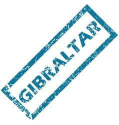Gibraltar rubber stamp vector