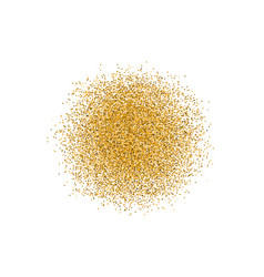 golden circle sparkles on white background vector image