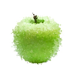 Green apple blots isolated on white vector