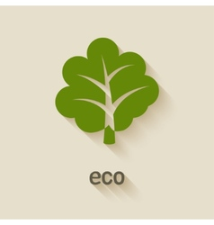 green tree eco symbol vector image