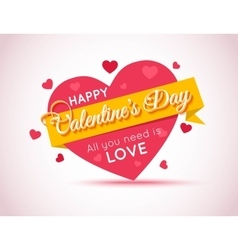 Happy Valentines Day Flyer Template for creating vector image