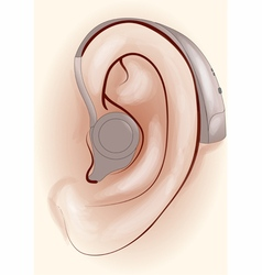 hearing aid vector image