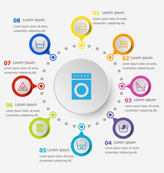 infographic template with laundry icons vector image