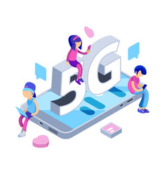 internet 5g concept free wifi network vector image
