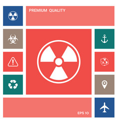 ionizing radiation icon elements for your design vector image