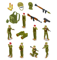 Isometric soldiers military special forces vector