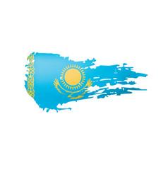 Kazakhstan flag on a white vector