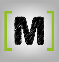 letter m sign design template element vector image