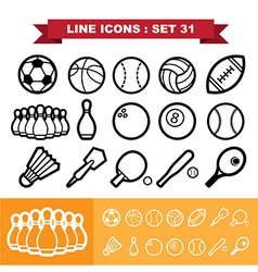 Line icons set 31 vector image