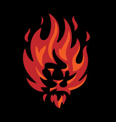 lion of fire logo vector image