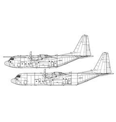 Lockheed c-130j super hercules vector