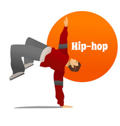 Man dancing hip hop in cartoon style vector