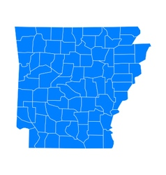 Map of Arkansas vector