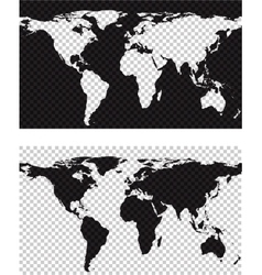 Map with imitation of transparent background vector image