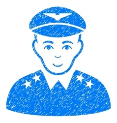 Military Pilot Officer Grainy Texture Icon vector