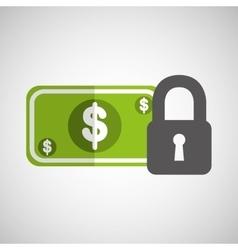 money security concept padlock design icon vector image