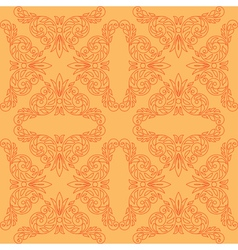 orange seamless pattern with red decor vector image