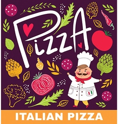 Pizza shop design vector image