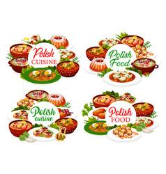 Polish cuisine menu cover design poland dishes vector