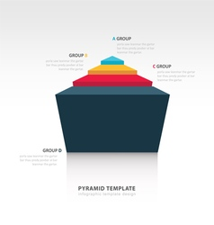 Pyramid infographic template 3D design vector