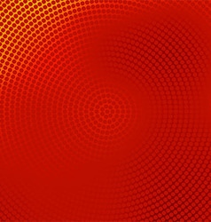 red halftone banner vector image