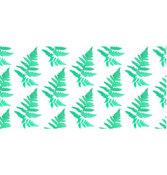 seamless pattern watercolor ferns vector image