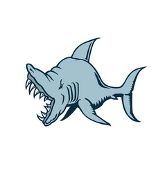 shark cartoon character vector image