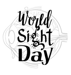 Sight day concept background simple style vector