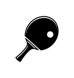 Simple table tennis icon vector image