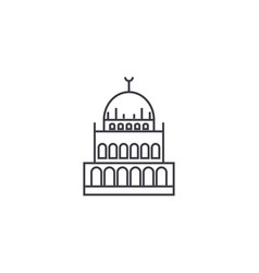 small mosque line icon sign vector image