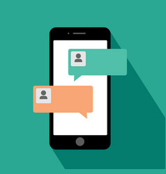 smartphone chat messages notification vector image