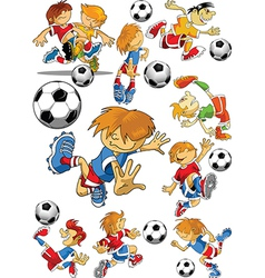 Soccer player cartoon vector