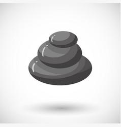 spa stones flat icon vector image