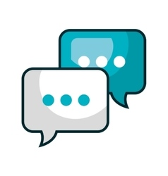 speech bubble communication isolated icon vector image