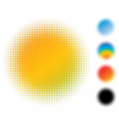 Spotted gradient flash vector