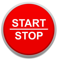 Start and stop button vector