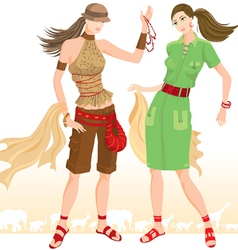 Summer fashion models vector image