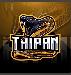 taipan snake mascot logo design vector image