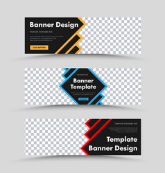 Templates black web banners with color strokes vector