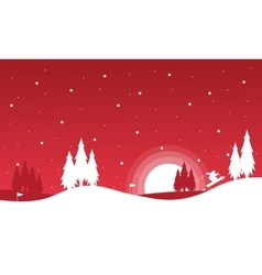 The winter Christmas landscape collection vector