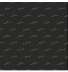 Tile dark mustache pattern or seamless background vector