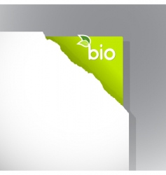 torn paper with bio sign vector image