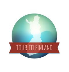 tour to finland vector image