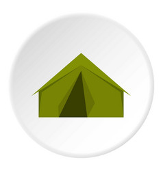 tourist or a military tent icon circle vector image